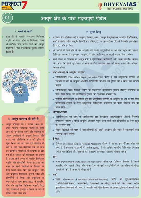 आयुष क्षेत्र के पांच महत्वपूर्ण पोर्टल (Five Important Portals of Ayush Sector)