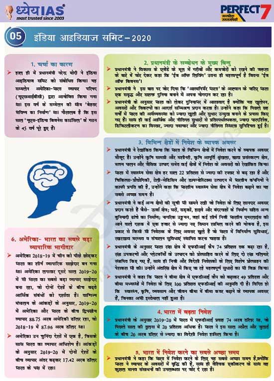 इंडिया आइडियाज समिट-2020 (India Ideas Summit)