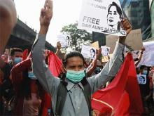 Protest Against Military Rule in Myanmar